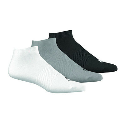 adidas Performance No-Show Socks 3 P Schwarz Grau