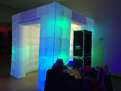 Inflatable Photo Booth enclosure  2 door 8 LED bulbs better then 1 strip