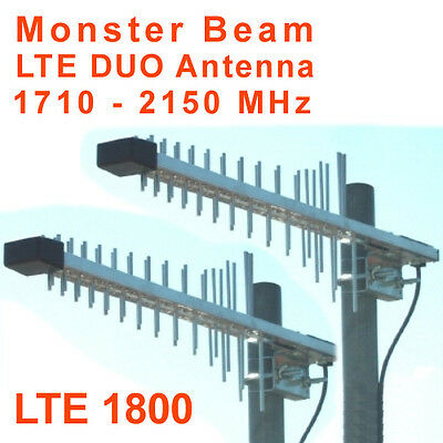1800 MHz Monster Beam Antena, 4G LTE 1800, 10m Cable FME en SMA (Telekom)