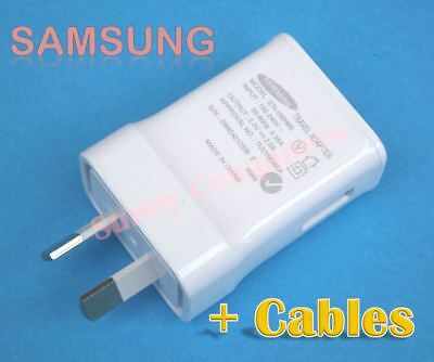 Original Genuine Samsung Wall Charger 2A Adapter for Galaxy Note3 Note4 +Cable