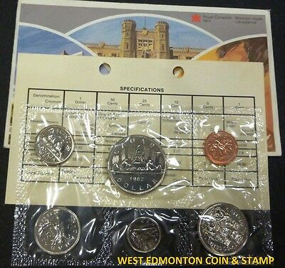 1982 Uncirculated Proof Like Set - Canadian 6-Coin Set - Envelope & Certificate