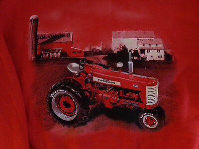FIRESTONE Vintage Style FARM TIRES Crew 2 Sided Sweatshirt MEDIUM Red FREE SHIP