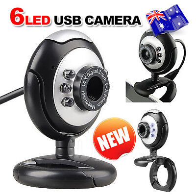6LED 16 megapixel USB Webcam Camera Mic MP Web Cam For Computer Laptop PC Skype