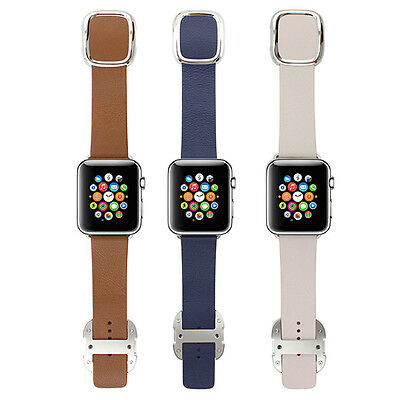 38mm Magnetic Genuine Bracelet Leather Strap Band Replacement For Apple Watch