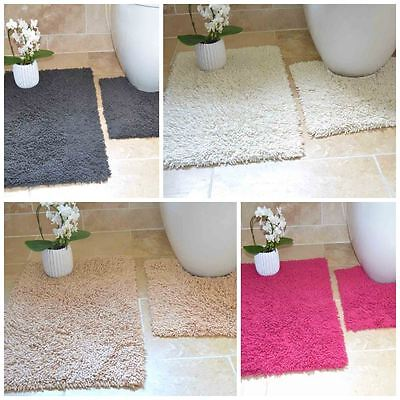 Tumble Twist Bath & Pedestal Mat Set 100% Cotton Soft Cosy Bright Design