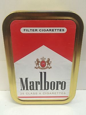 Marlboro Red Retro Advertising Brand Cigarette Tobacco Storage 2oz Tin