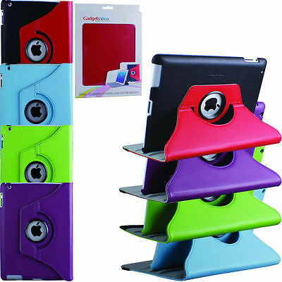 High Quality Apple iPad 2, 3 & 4 Rotation 360° Swivel PU Leather Stand Cover