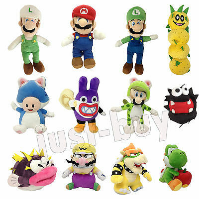 New Super Mario Bros. U 3D Land Luigi Bowser Plush Soft Toy Stuffed Animal Doll
