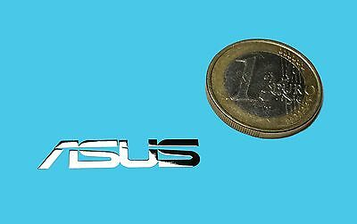 ASUS METALISSED CHROME EFFECT STICKER LOGO AUFKLEBER 30x6mm [479]