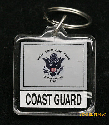 Us Coast Guard Keychain Veteran Pin Up Soldier Graduation Promotion Gift Mom Dad