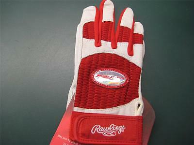 BRAND NEW RAWLINGS BATTING GLOVES FASTPITCH SOFTBALL WOMENS Sz LARGE size lg red
