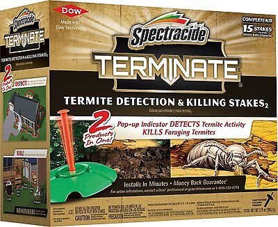 Spectracide Terminate Termite Detection and Killing Stakes, New 15 Count