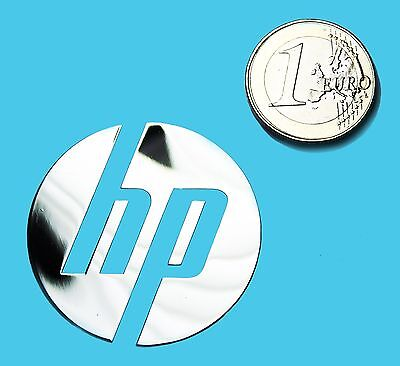 HP METALISSED CHROME EFFECT STICKER LOGO AUFKLEBER 40mm [516]