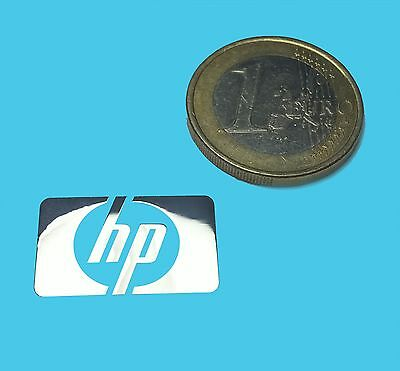 HP METALISSED CHROME EFFECT STICKER LOGO AUFKLEBER 21x13mm [521]