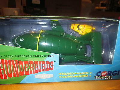 CORGI THUNDERBIRDS : THUNDERBIRD 2 & 4  50th ANNIVERSARY EDITION CC00802 MIB