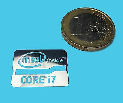 INTEL CORE i7 METALISSED CHROME EFFECT STICKER LOGO AUFKLEBER 21x16mm [537]