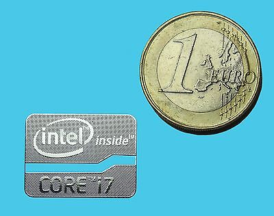 INTEL CORE i7 METALISSED CHROME EFFECT STICKER LOGO AUFKLEBER 21x16mm [538]
