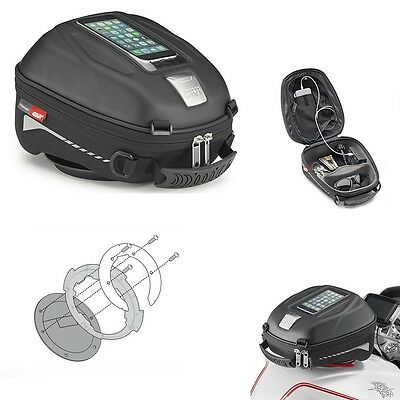 TANK BAG GIVI TANKLOCK ST602 + FLANGE BF 17 BMW R1200 GS Adventure 2014