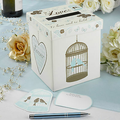 WEDDING WISHES POST BOX Alternative Guest Book TO HAVE & TO HOLD Vintage Mailing