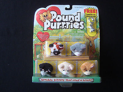 Pound Purries Purrries Lovables Kittens W/ Charm Bracelet New