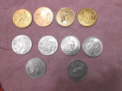 ASSORTED   HISTORY  MEDAL COINS  AND  MARDI GRAS  New Orleans