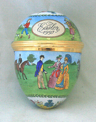 Halcyon Days Enamels 1997 Easter Egg with Original Box and Certificate