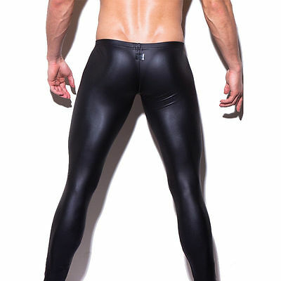 Mens Underwear Faux Leather Thongs Underpants Pants Casual Pant trousers