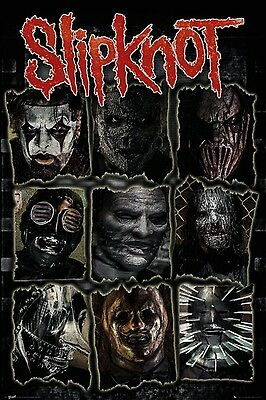 "SLIPKNOT ""FACES"" Fabric Poster Oversized 30""X40"" Poster Flag NEW"