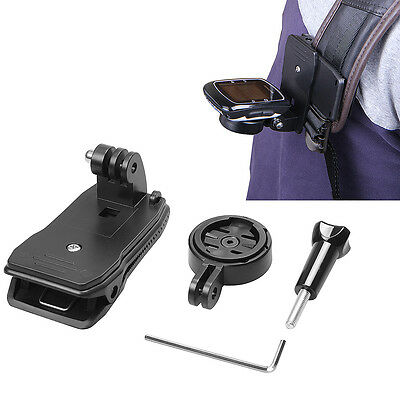 360 Degree Bag Strap Clip Mount For Garmin Edge 25 200 500 510 800 810 1000 GPS
