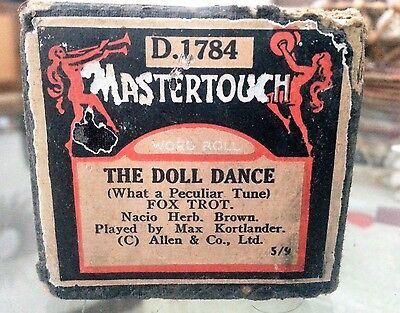 Vintage Mastertouch Pianola Roll The Doll Dance Foxtrot