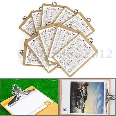 10Pcs Wooden A5 Clipboard Hardboard Menu Board With Clip For Office Restaurant