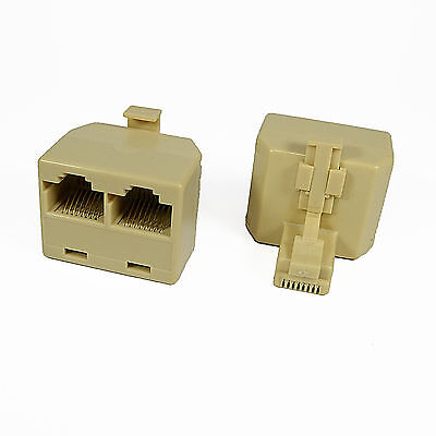 RJ45 Sockets 1M To 2F Ethernet Connector Splitter Adapter For Cat 5 5e 6 Network