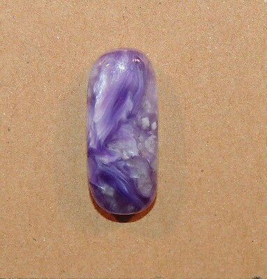 Charoite Cabochon 22.5x9mm with 6mm dome from Russia (10149)