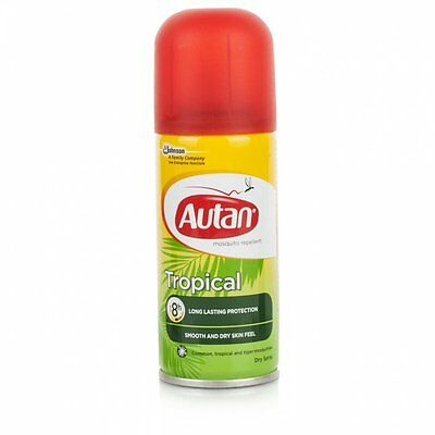 Autan Tropical Mosquito Repellent Body Dry Spray Long Lasting 8 Hour Protect
