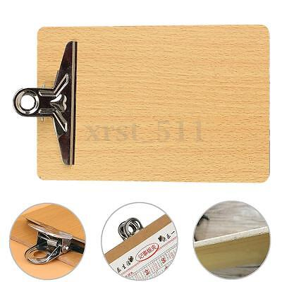 10x With Clip Wooden A5 Clipboard Hardboard Menu Board For Office Home School AU