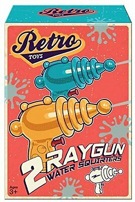 Retro Ray Gun Water Squirters Pistols Pack of 2 Traditional Childhood Toys GIFT