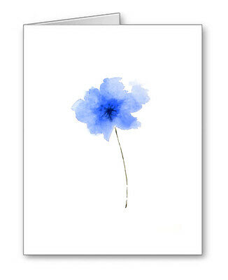 BLUE FLOWER Note Cards With Envelopes