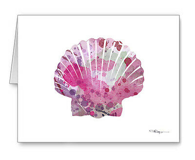 SEA SHELL SCALLOP Note Cards With Envelopes
