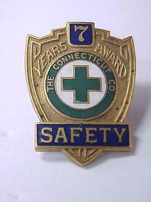 Antique 7 Year Safe Driving Award Pin The Connecticut Electric Railway Company