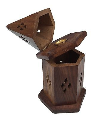New Cone Incense Burner Holder Cut Out Hole Design Indian Hand Made Tidy Storage
