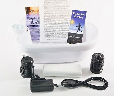 Ion Detox Ionic Foot Bath Spa Chi Cleanse. Free Bonus Extras! 1 Year Warranty!