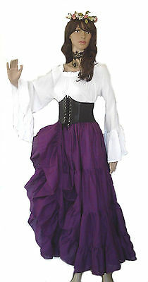 83c0b579003 Renaissance Steampunk Pirate Wench Victorian Underbust Corset COSPLAY 8  COLORS