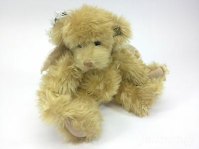 Annette Funicello Collectible Bear Co Angel Bear Tan Jointed with Feather Wings