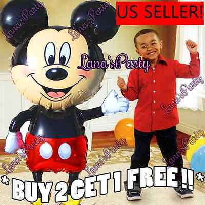 """Giant 44"""" Mickey Mouse Baby Shower Boy Balloon Balloons USA SELLER Minnie Red"""