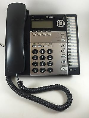 AT&T 1040 Small Business System 4 Line Telephone w/Headset Jack-Black-Works~EUC