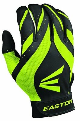 1 pr Easton Synergy II Womens X-Large Softball Batting Gloves Black / Optic New!