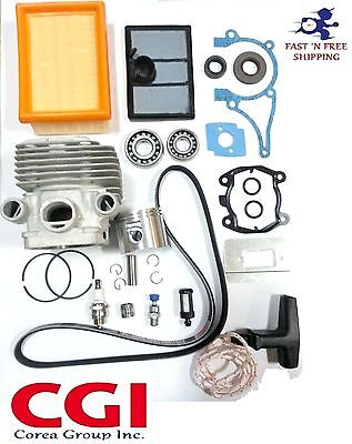 Stihl TS700 TS800 Cut-Off Saw Cylinder Overhaul Kit + air filter + Belt  bearing