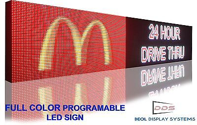 "FULL COLOR LED SIGN 13"" x51"" PROGRAMMABLE IMAGE TEXT  DISPLAY BAORD INDOOR"
