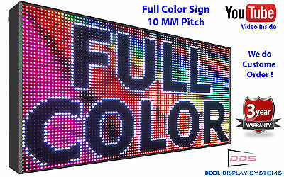 "13"" x26"" LED SIGN FULL COLOR Semi-Outdoor Programmable Super HD Screen Display"