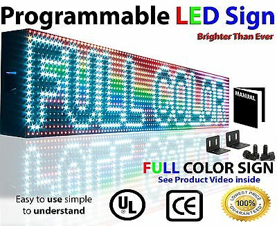 "Outdoor Programmable Scrolling Window  7"" x62"" Message LED Sign Display Open Bar"